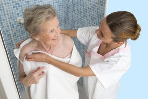 Always There Home Health Care Elderly Woman Bath